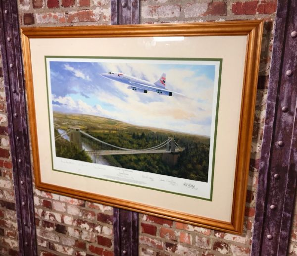Concorde The Homecoming By Stephen Brown Limited Edition Signed Print 18/400